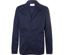 Unstructured Cotton-twill Blazer