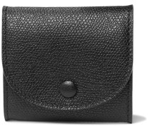 Grained-leather Coin Wallet