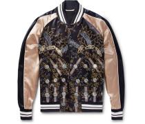 + Zandra Rhodes Printed Satin Bomber Jacket