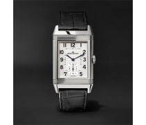 Reverso Classic Large Duoface 28mm Stainless Steel And Leather Watch