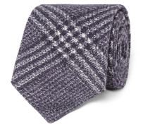 7cm Checked Wool And Silk-blend Tie
