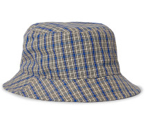 Checked Canvas Bucket Hat