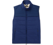 Slim-fit Quilted Storm System® Shell And Cashmere-blend Gilet