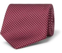 9cm Polka-dot Silk-twill Tie