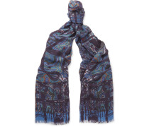 Paisley Modal And Cashmere-blend Scarf