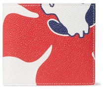 Printed Pebble-grain Leather Billfold Wallet