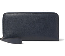 All In One Pebble-grain Leather Travel Wallet