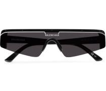 Ski Rectangle-Frame Enamelled Acetate Sunglasses