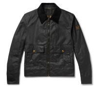 Mentmore Slim-fit Corduroy-trimmed Waxed-cotton Jacket