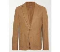 Unstructured Wool and Cashmere-Blend Blazer