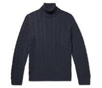 Cable-Knit Baby Cashmere Rollneck Sweater