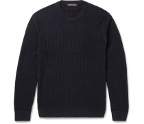 Slim-fit Textured-cotton Sweater