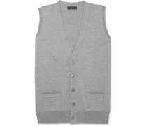Slim-fit Mélange Merino Wool Vest