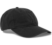 Embroidered Garment-dyed Cotton-canvas Baseball Cap