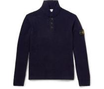 Wool-blend Mock Neck Sweater