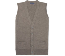 Slim-fit Mélange Merino Wool Sweater Vest