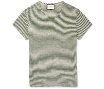 Slim-fit Striped Linen T-shirt