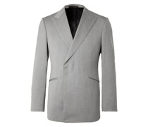 Conrad Slim-Fit Double-Breasted Herringbone Wool Suit Jacket