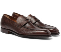 Scotch-grain Leather Loafers