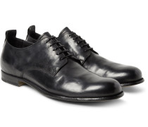 Mono Distressed Leather Derby Shoes