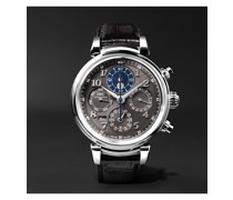 Da Vinci Perpetual Calendar Chronograph 43mm Stainless Steel and Alligator Watch, Ref. No. IW392103