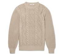 Cable-Knit Organic Pima Cotton Sweater