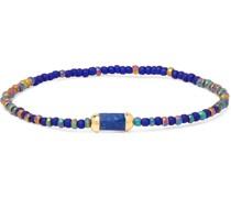 14-Karat Gold, Lapis Lazuli and Bead Bracelet