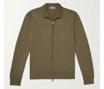 Cotton Zip-Up Sweater