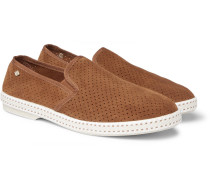 Perforated Suede Espadrilles