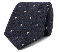 + Drake's 7.5cm Embroidered Wool and Silk-Blend Tie