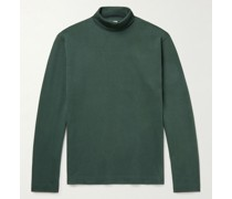 Brushed-Cotton Jersey Rollneck T-Shirt