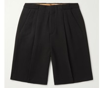 Roberts Pleated Crepe Shorts
