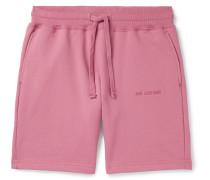 Logo-Embroidered Mélange Loopback Cotton-Jersey Drawstring Shorts