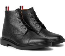 Cap-toe Pebble-grain Leather Boots
