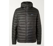 Quilted DWR-Coated Recycled Ripstop Down Hooded Jacket