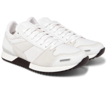 Panelled Leather, Suede And Mesh Sneakers