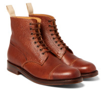 Pebble-grain Leather Boots