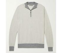 Slim-Fit Wool Half-Zip Sweater
