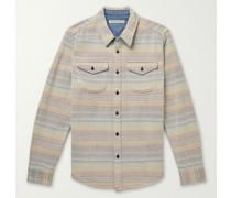Blanket Checked Organic Cotton-Twill Shirt