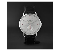 At Work Metro Neomatik Automatic 39mm Stainless Steel and Leather Watch, Ref. No. 1115
