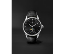Master Ultra Thin Moon Automatic 39mm Stainless Steel and Leather Watch, Ref. No. Q9008480