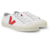 Wata Rubber-trimmed Organic Canvas Sneakers - White