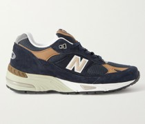 M991 Suede, Leather and Mesh Sneakers