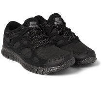 Free Run 2 Suede And Mesh Sneakers
