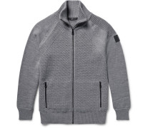 Garston Panelled Wool Zip-up Sweater