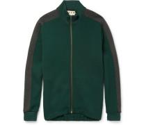 Wool-blend Jersey Zip-up Sweatshirt