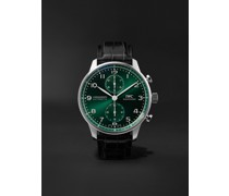 Portugieser Automatic Chronograph 41mm Stainless Steel and Alligator Watch, Ref. No. IW371615