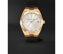 Overseas Automatic 41mm 18-Karat Pink Gold and Alligator Watch, Ref. No. 4500V/000R-B127