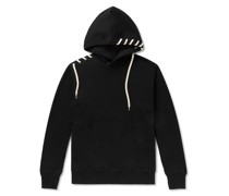 Lace-Detailed Loopback Cotton-Jersey Hoodie