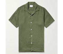 Miyagi Camp-Collar Linen Shirt